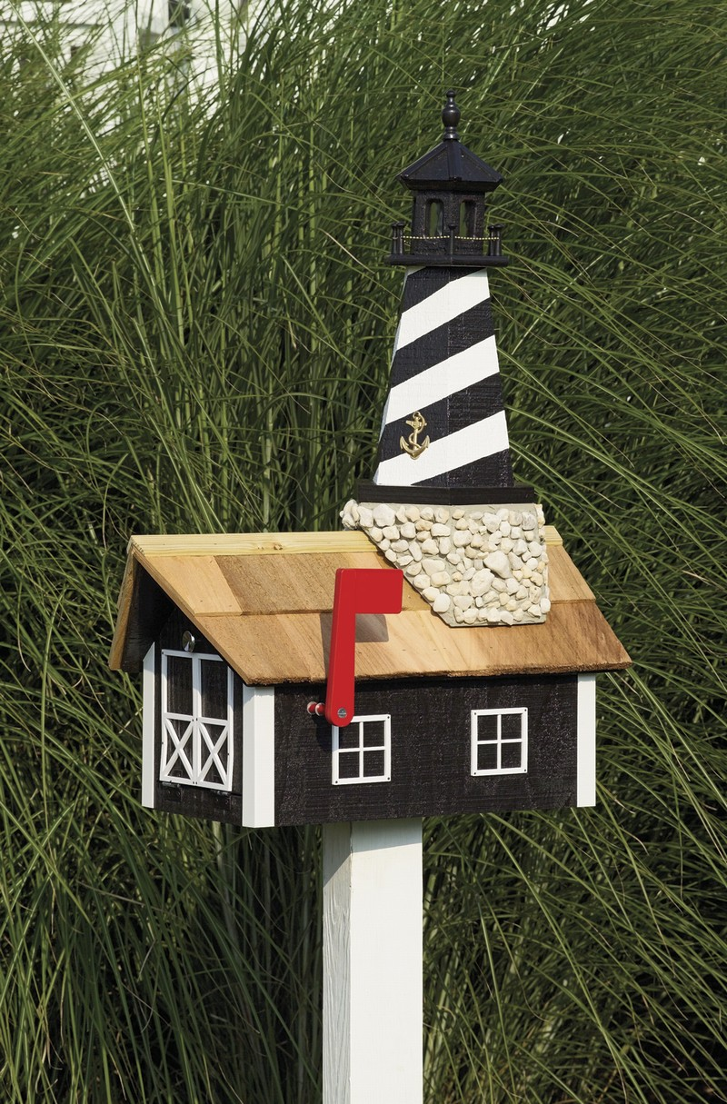 Unique Amish Made Lighthouse Mailboxes Gifts Nautical
